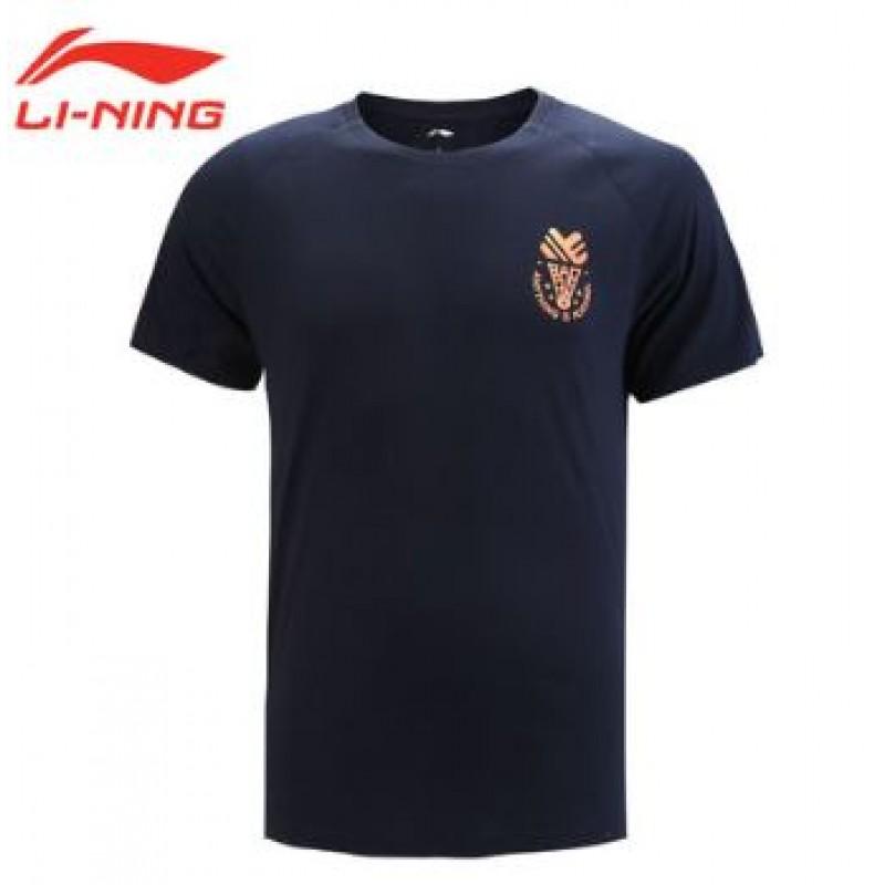 Li Ning AHSN563-BK Shuttlecock Logo Training T-Shirts