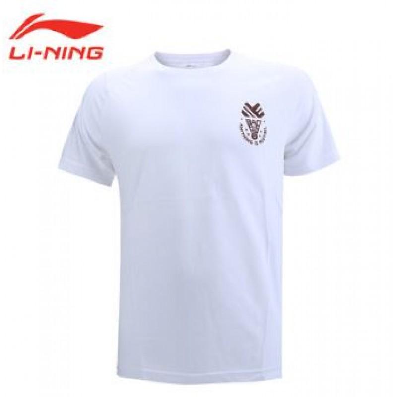 Li Ning AHSN563-WH Shuttlecock Logo Training T-Shirts