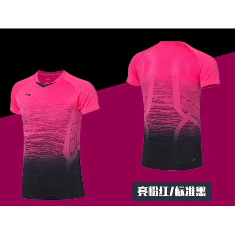 Li Ning AAYP118-PK China Open Chinese Team Ladies Take Down Game Shirt