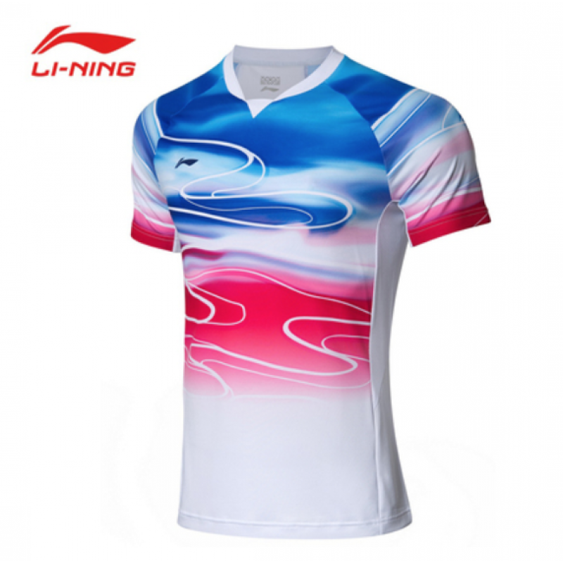 Li Ning China Team Sudirman Cup Men Take Down Game Shirt AAYP071-2
