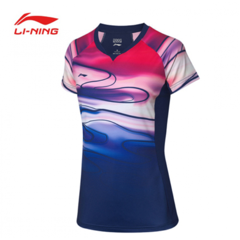 Li Ning China Team Sudirman Cup Ladies Take Down Game Shirt AAYP054-1