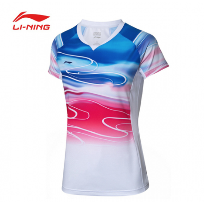 Li Ning China Team Sudirman Cup Ladies Take Down Game Shirt AAYP054-2