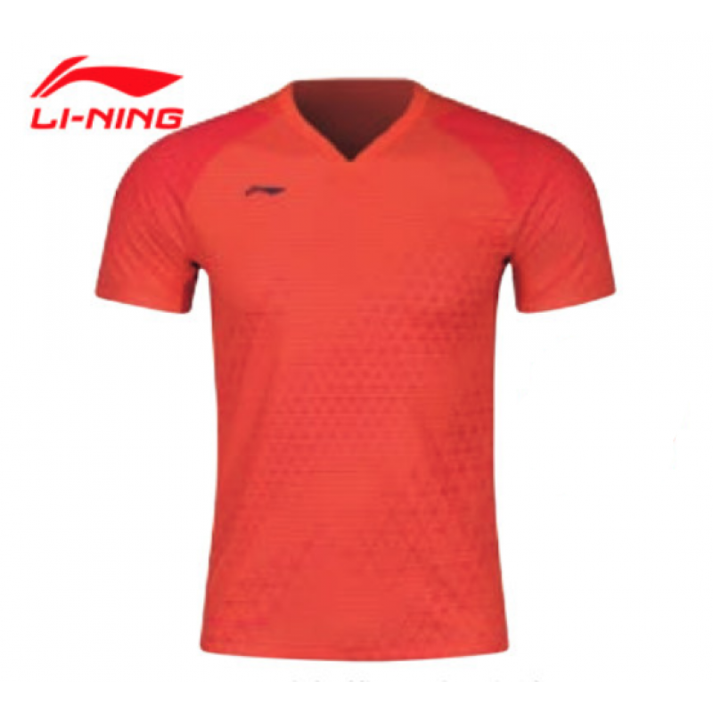 Li Ning AAYQ011-OR All England MenTake Down Game Shirt