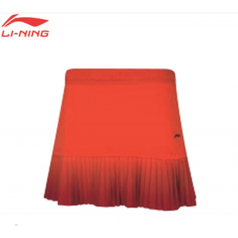 Li Ning ASKQ098-OR All England Ladies Official Game Skirt
