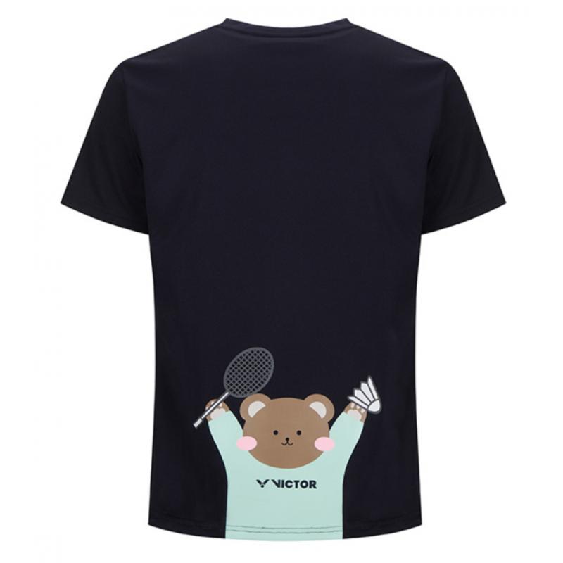 Pre-Order Victor Teddy Bear Print Men Training T-Shirt (Korea Version)