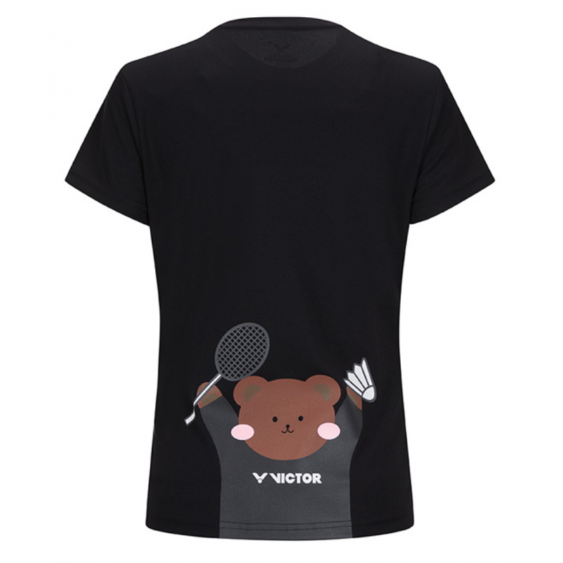 Pre-Order Victor Teddy Bear Print Ladies Training T-Shirt (Korea Version)