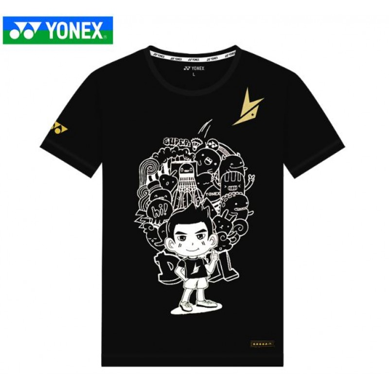 Yonex 10019LD-BK Lin Dan Collection Training T-Shirt