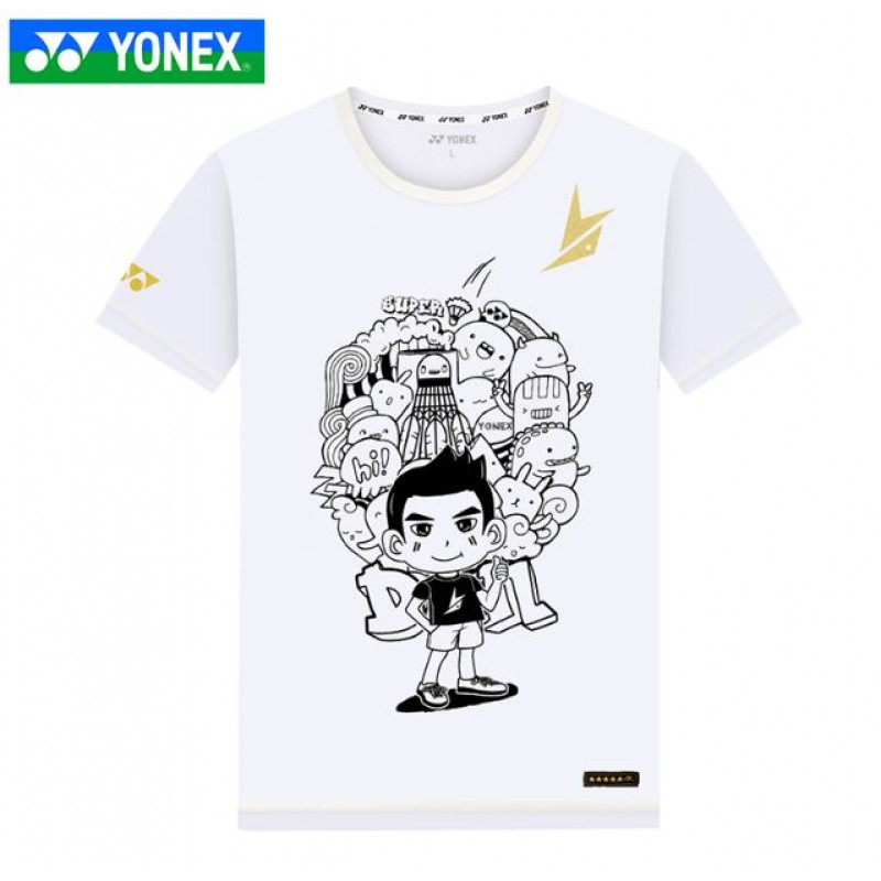 Yonex 10019LD-WH Lin Dan Collection Training T-Shirt