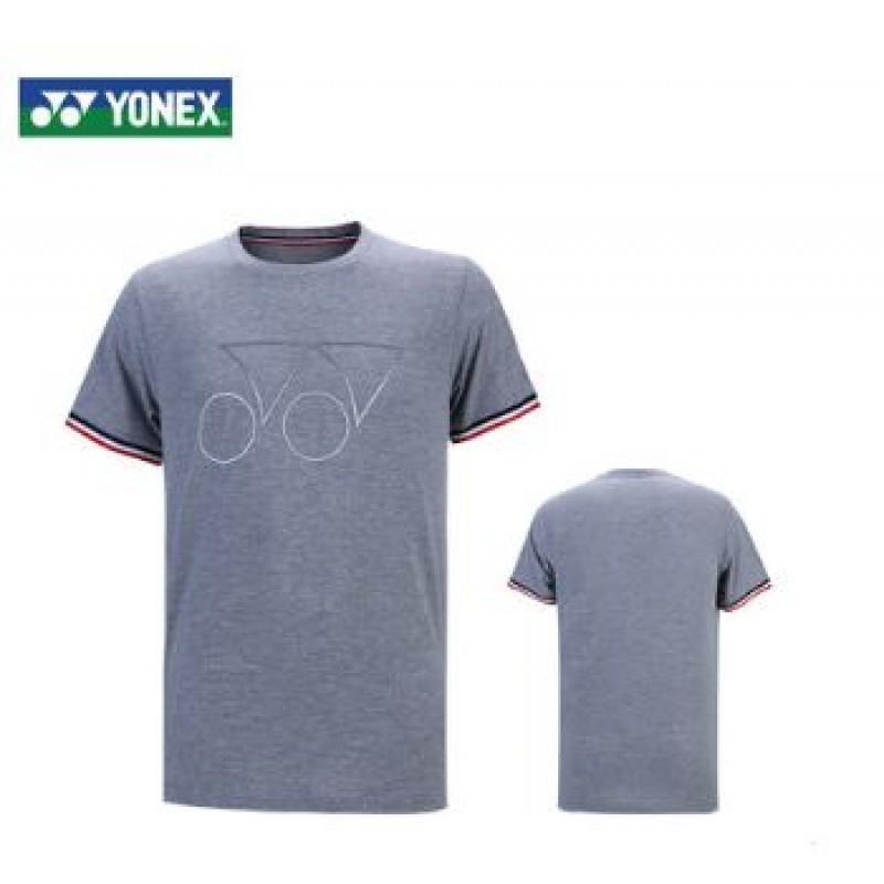 Yonex 115219BCR-GY Unisex Logo T-Shirt