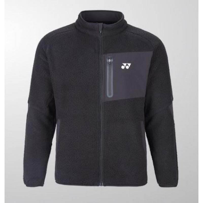 Yonex 190039BCR-BK Unisex Fleece Jacket