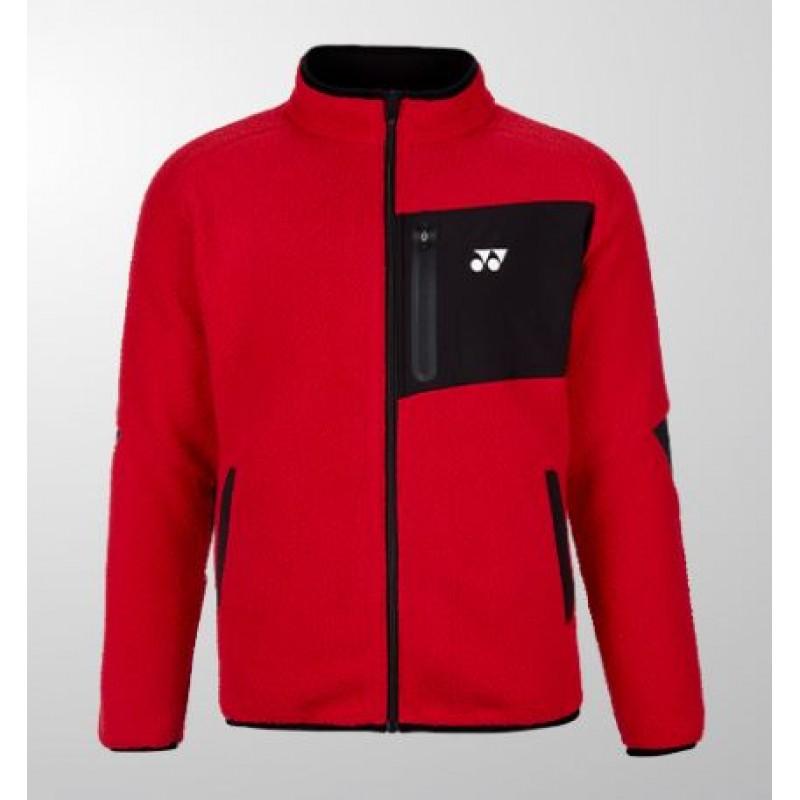 Yonex 190039BCR-RD Unisex Fleece Jacket