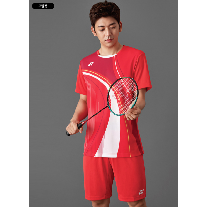 Yonex 10290EX-RD Korea Team World Championship Game Shirt