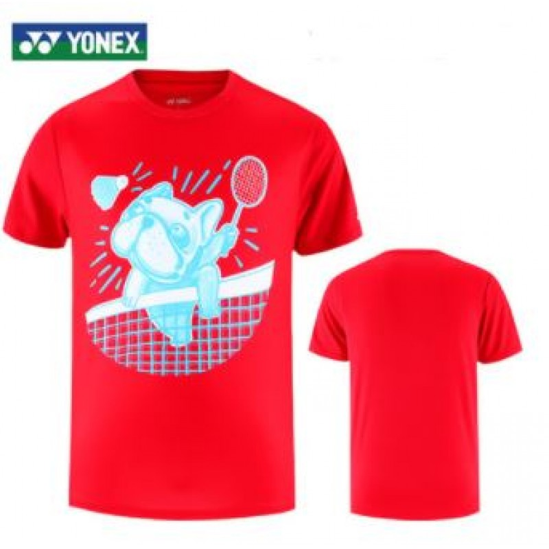 Yonex 115310BCR-RD Men Training T-Shirt
