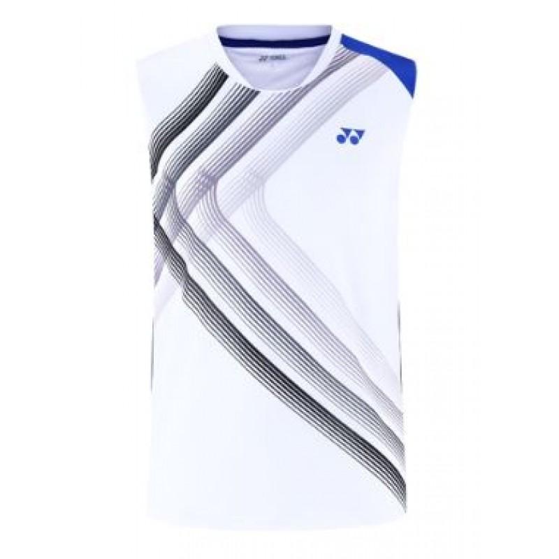 Yonex 110560BCR-WH Men Sleeveless Game Shirt