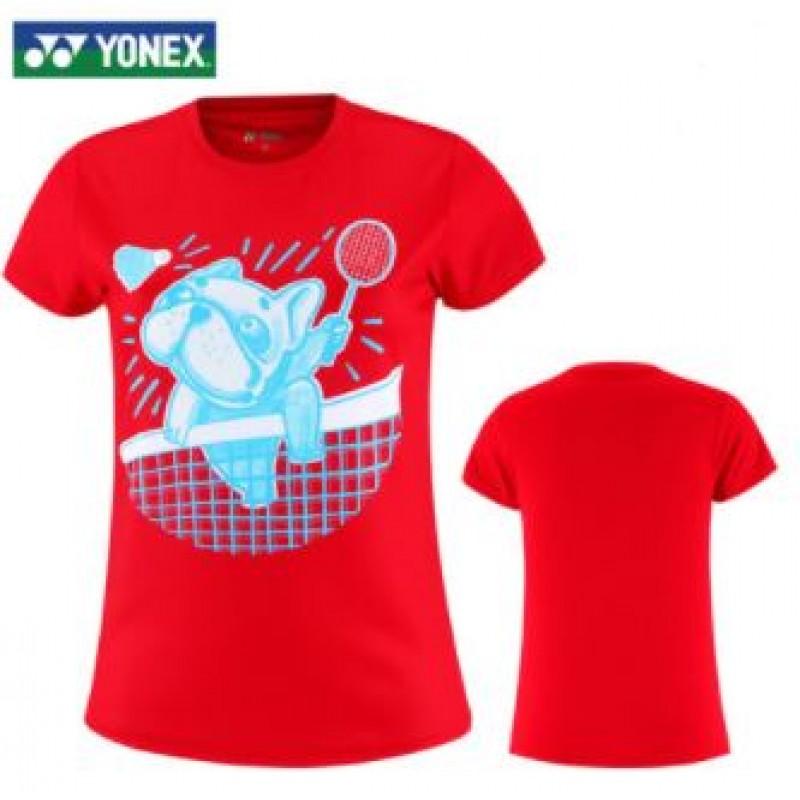 Yonex 215310BCR-RD Ladies Training T-Shirt