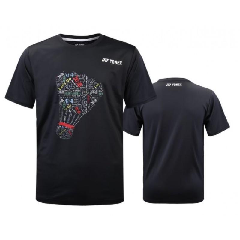 Yonex YOBC0016-BK Unisex Cheering T-Shirt