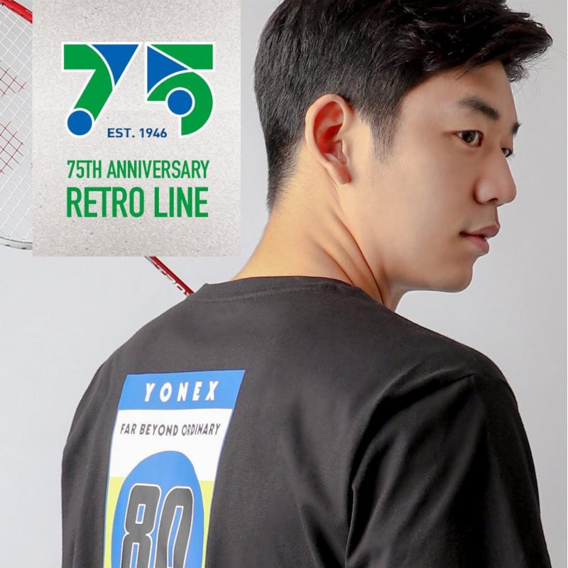 PRE ORDER Yonex 75th Anniversary Retro Line Training T-Shirt (Cotton)