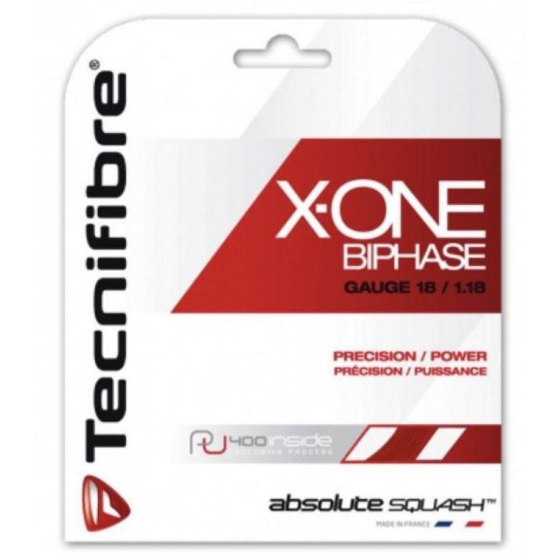 Tecnifibre X-ONE BiPhase 1.18MM Squash String Set